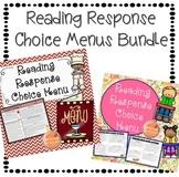 Reading Response Choice Menu Boards Bundle