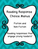 Reading Response Choice Menus