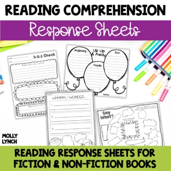Reading Response Comprehension Sheets for Non-Fiction & Fi