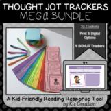 Reading Response: Comprehension Sticky Note Tracker MEGA BUNDLE