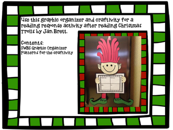 Reading Response Craftivity for Christmas Trolls by Jan Brett