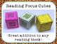 Reading Response Activity Cubes