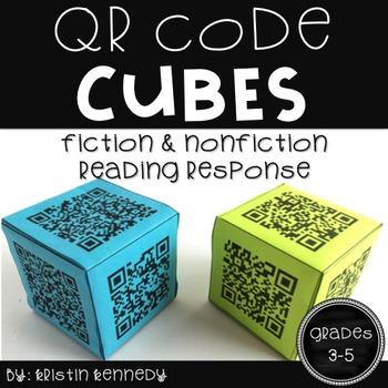 QR Code Reading Response Cubes {Fiction and Nonfiction, Gr
