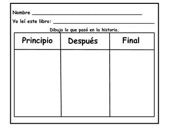 Reading Response English/Spanish