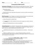 Reading Response Essay Checklist