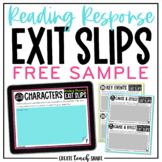 Reading Response Exit Slips | Digital & Printable | Distan