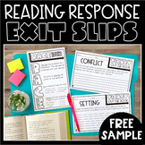 Reading Response Exit Slips FREE SAMPLE