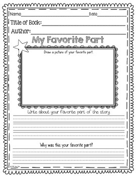 Reading Response FREEBIE: Kindergarten to 2nd Grade