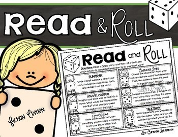 Reading Response Fiction Read and Roll Dice Activity