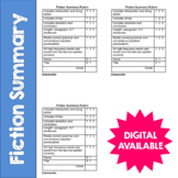 Fiction Summary- Reading Response Rubric- Common Core- 4th, 5th, 6th, 7th, 8th