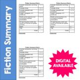 Fiction Summary- Reading Response Rubric- Common Core- 4th