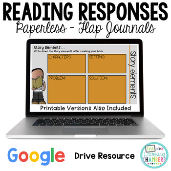 Google Drive Reading Response Journals: Story Elements, Retelling, Predicting