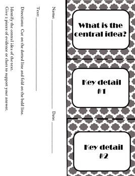 Reading Response Flip Booklets