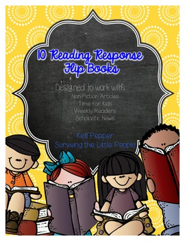 Reading Response Flipbooks {Ideal for NF, Time for Kids, Scholastic Readers}