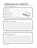 Reading Response Form - Chapter Book
