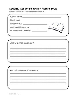 Reading Response Form - Picture Book
