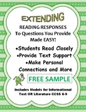 Close Reading & Extended Response with Text Citation for Fiction or Non-Fic. 6-9