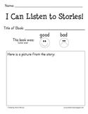 Reading Response Form for Listening Centers