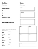 Reading Response Forms for Fiction and Nonfiction