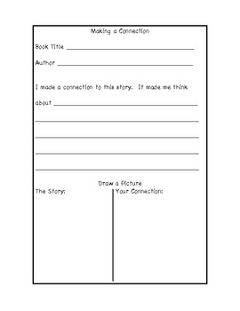 Reading Response Forms for Literacy
