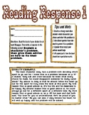 Reading Response: Give a character advice on their problem.