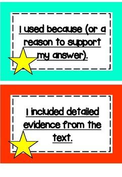 Reading Response Goals