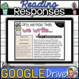 Reading Response Google Classroom Distance Learning