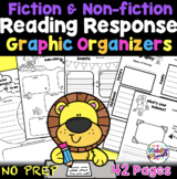Reading Response Graphic Organizer Worksheets - First, Second, Third Grade