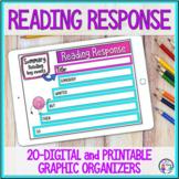 Reading Response Graphic Organizers Digital and Printable