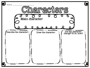 Reading Response Graphic Organizers for Fiction