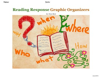 Reading Response Graphic Organizers with Digital versions