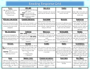 Reading Response Grid