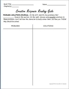 Reading Response Guide: Nine Literature Response Worksheets