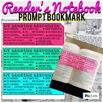 Reading Response Prompts- Bookmark Scaffold
