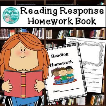 Reading Response Homework Book For Beginner Writers