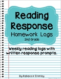 Reading Response Homework Logs for 2nd Grade