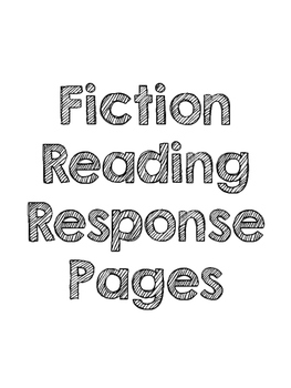 Reading Response Homework for Fiction and Nonfiction - Little prep!