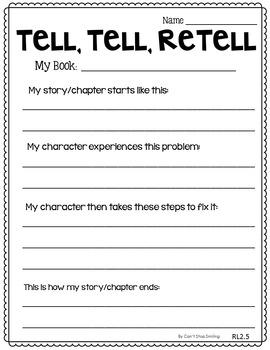 Reading Response Printables for Homework or Morning Work