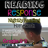 2nd Grade Reading Homework Response to Text Printables