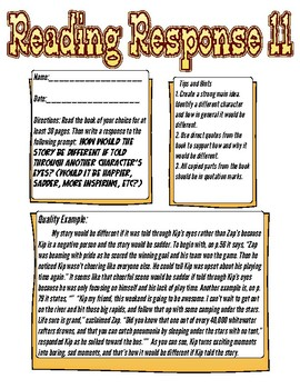 Reading Response: How would the story be different through another's eyes?