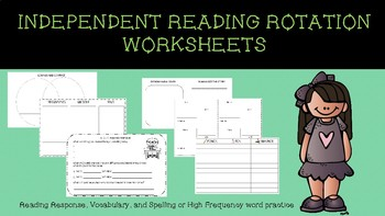 Reading Response Independent  Worksheets