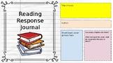 Reading Response Interactive Digital Notebook
