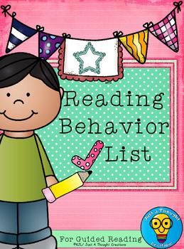 Checklist for Guided Reading Behaviors