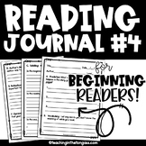 Reading Response Journal {Level 4}