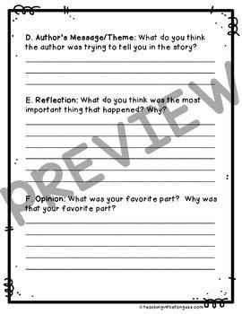 Reading Response Journal {Level 4}