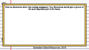 Reading Response Journal (ANY Grade, ANY Subject)