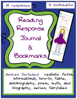 Reading Response Journal and Bookmarks