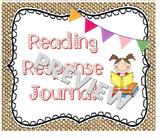Reading Response Journal Burlap Labels