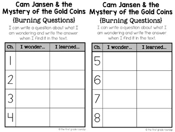 Reading Response Journal: Cam Jansen and the Mystery of the Gold Coins