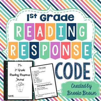 """Reading Response Journal """"Code"""" for First Grade"""